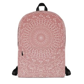Mandala in Peach Backpack