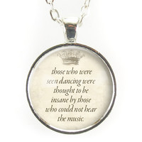 Inspirational Nietzsche Quote Necklace