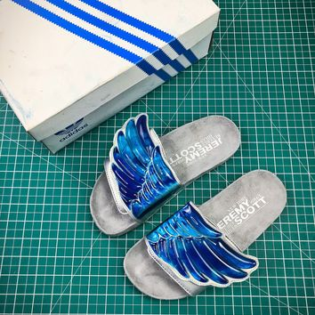 Jeremy Scott X Adidas Gel Wing Adilette Slides Beach Sandals Slippers - Best Online Sale