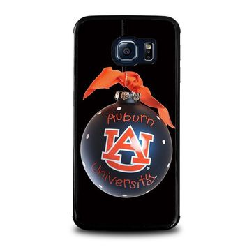 auburn university war eagle samsung galaxy s6 edge case cover  number 1