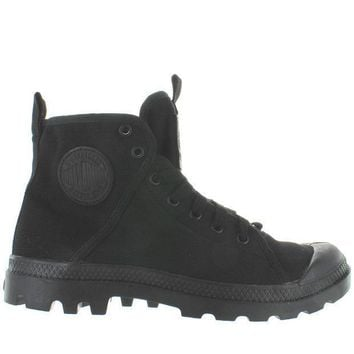 Palladium Pampa Hi   Black/chevron Canvas Lace Boot