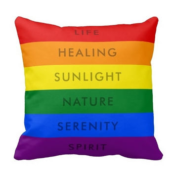 "Another Rainbow Gay Pride Flag Quote Pillow Case (Size: 20"" by 20"") Free Shipping"