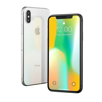 Apple iPhone X - 64GB - Silver (T-Mobile) A1901 (GSM)