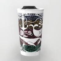Ocean Galaxy Travel Mug by Famenxt | Society6