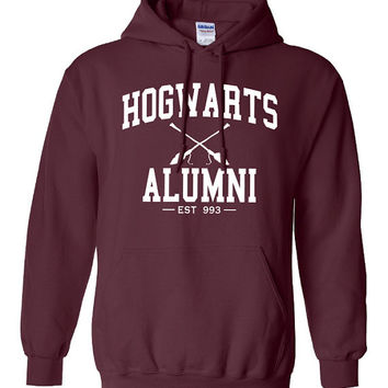 Hogwarts Alumni Hoodie Printed Hooded Sweatshirt Mens Womens Ladies Funny Harry Potter Wizard Magical ML-006W5