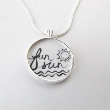 Fun Sun Necklace-summer necklace,beach,fun in the sun jewelry,ocean