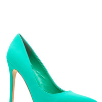 Jade Faux Nubuck Pointy Toe Classic Pumps