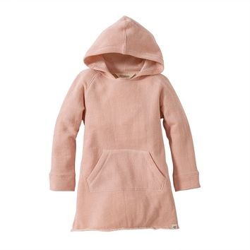 Burt's Bees Baby Organic Loose Terry Hooded Dress - Toddler Girl, Size:
