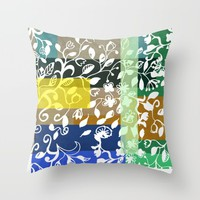 Unconventional lace Throw Pillow by Sagacious Design