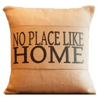 No Place Like Home Burlap Pillow Wrap