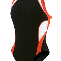 NIKE SWIM Team Splice Modern Fast Back Tank - Metro Swim Shop