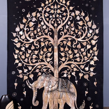Elephant Tapestries , Hippie Gypsy tapestry , Tree Of Life Tapestries , Wall Tapestries , Bohemian tapestries, Indian Tapestry Wall Hanging