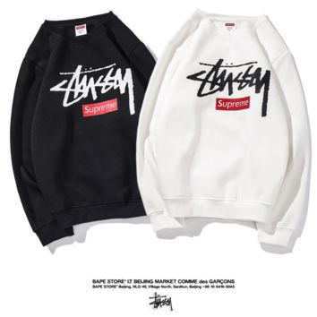Stussy x Supreme monogrammed world tour and fleece lapel jacket