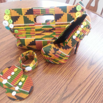african fabric kente shoes