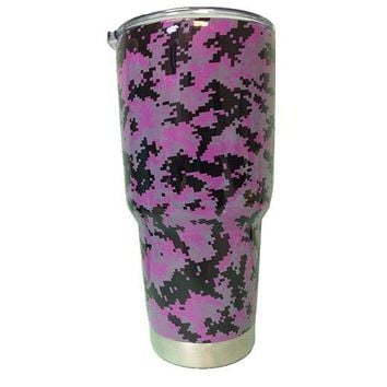 Purple Digital Camo Tumbler Warehouse Tumbler