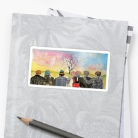'BTS spring day' Sticker by artsytrish