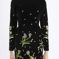 Brunswick Velvet Cut-Out Dress - Topshop
