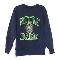 Vintage Notre Dame Fighting Irish Crewneck Sweatshirt | Unisex Adult Size Large | University College Student Graduate Alumni Gift