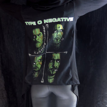 Type O Negative Girls Drape Hoodie by HellCouture on Etsy