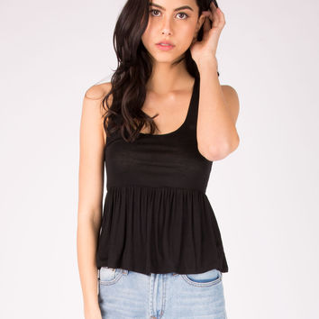 Womens Ruffle Tank Top