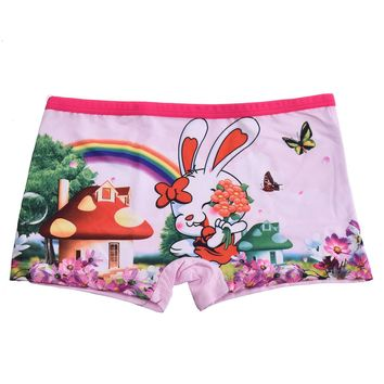 Girls Boxer Shorts Cute Cartoon Soft Kids Panties Underwear Children's Baby Underpants 3-11Years