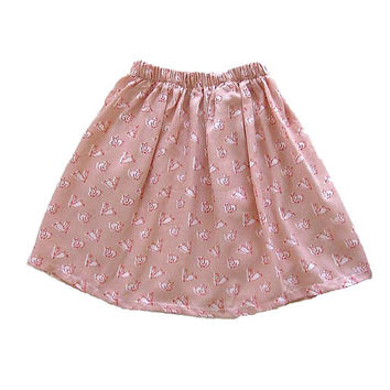Bunny Skirt - Girls Clothing - Toddler Girls Skirt - Peach Skirt - Free Shipping