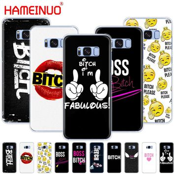 HAMEINUO Boss Bitch mode on pink cell phone case cover for Samsung Galaxy S9 S7 edge PLUS S8 S6 S5 S4 S3 MINI