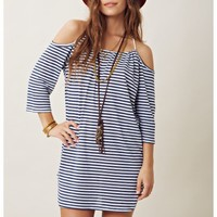 Blue Life Open Shoulder Dress