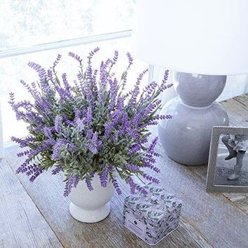 Artificial Lavender Plant with Silk Flowers for Wedding Decor and Table Centerpieces