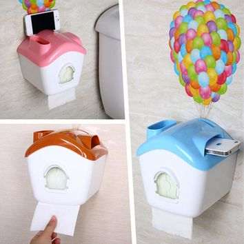 DIY Warm hut toilet paper holder with wallpaper placed frame Wall mounted Tissue Box for kitchen toilet bathroom accessories