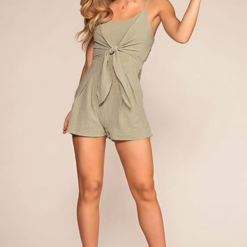 Ready For Sunshine Tie Front Romper