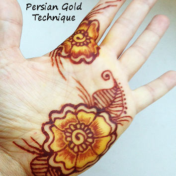 Persian Gold Henna Kit -  Mehndi, body art, cool, teens, bridal, gift for her, girlfriend, bachelorette