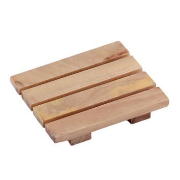Wood Wooden Soap Dish Storage Tray Holder Bath Shower Plate Bathroom Household 2017 Top Sale