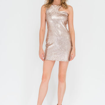 Dream Sequins Asymmetrical Minidress