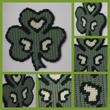 Shamrock magnet with hearts