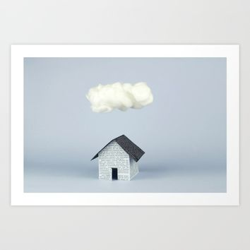 A cloud over the house Art Print by josemanuelerre
