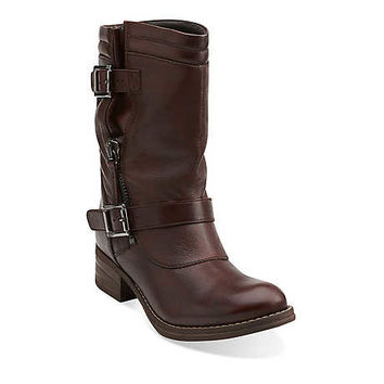 Mezze Rose in Brown Leather - Womens Boots from Clarks