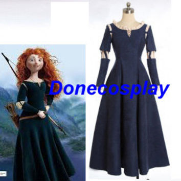 Princess Brave Merida Cosplay Halloween Costume princess dress