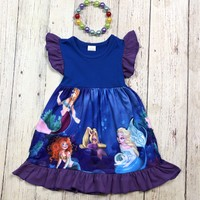 RTS Purple & Blue Mermaid Dress D25