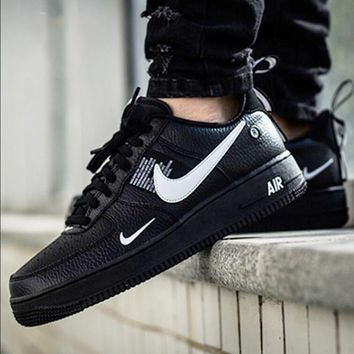 NIKE AIR FORCE 1 07 LOW Fashion New Couple Fashion Casual Wild Running  Sports Shoes Black b948dc3cfa