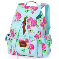 Victoria's Secret Pink Floral Print Backpack
