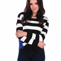 Vintage Havana Stripe Color Block Sweater