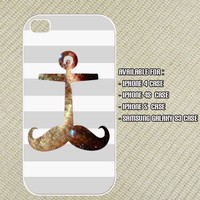 Mustache Anchor Galaxy Helix Iphone 4 case , iphone 4s case , Iphone 5 case and Samsung Galaxy S3 case