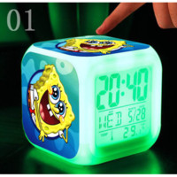 SpongeBob LED 7 Colors Change Digital Night Colorful Glowing Toy