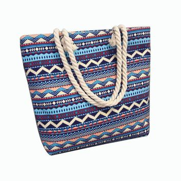 Large Capacity Tote Canvas Beach Shoulder Bag