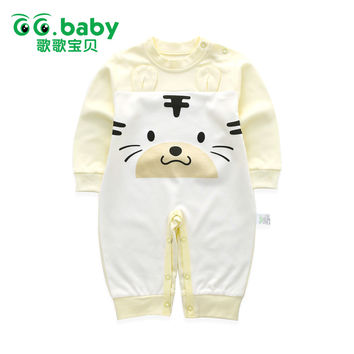 Spring Autumn Newborn Tiger Romper Baby Cotton Brand Baby Jumpsuit Unisex Baby Boy Girl Rompers Clothing Infant Animal Costumes