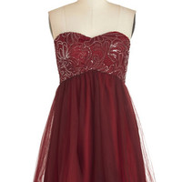 ModCloth Short Length Strapless A-line Infatuate the Dance Floor Dress