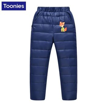 2017 New Arrival Winter Children's Clothing Kids Down Pants Baby Boys and Girls Casual Warm Pant Children Down Warm Wear 3 Color
