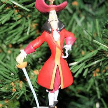 Licensed cool Disney CAPTAIN HOOK SWORD Christmas Ornament PVC JAKE NEVERLAND PIRATE PETER PAN