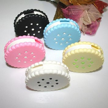 Sweet Cookies Biscuits Series Colored Contact Lenses Box & Case/Contact lens bag Promotional Gift Eyewear Cases Free shipping